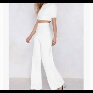 Nasty Gal White Two Piece Set